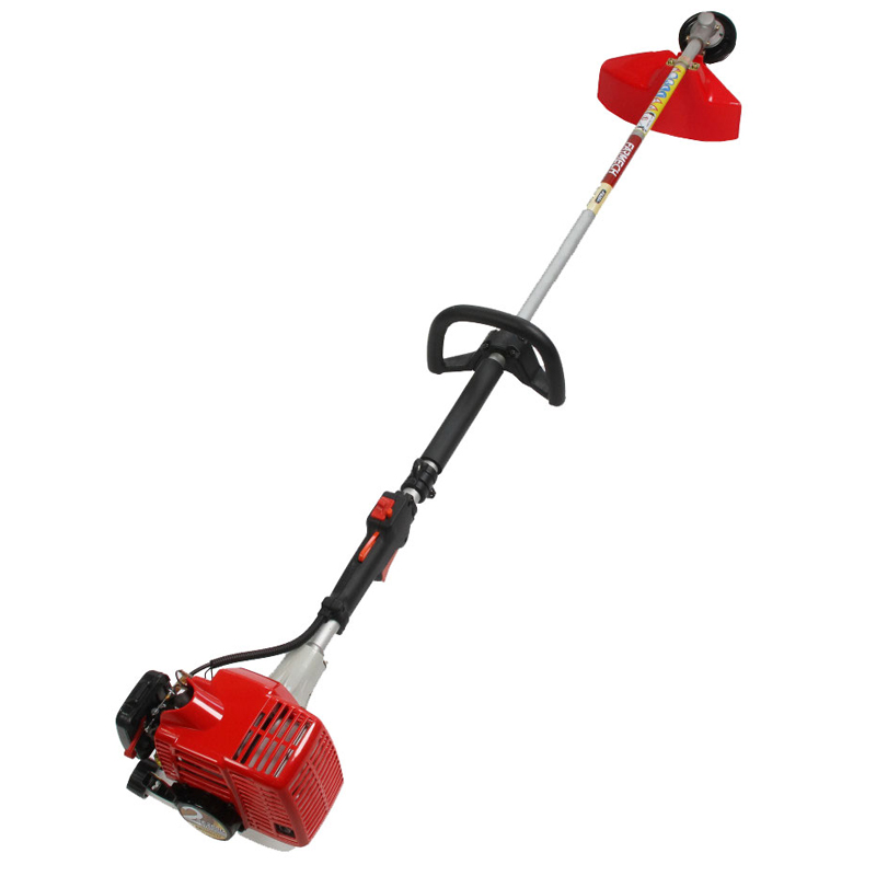 Weed trimmer with loop type handlebar