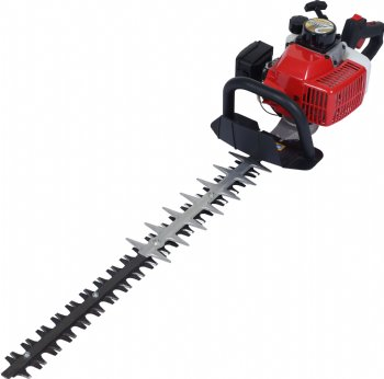 Hedge trimmer with double blade